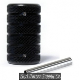 Aluminum Alloy Tattoo Grip 35mm - Black AGR35