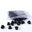 100 x Silicon Half Grommets (Top Hats) Black NIE08