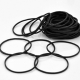 100 x Black Rubber Band
