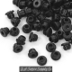 100x Tattoo Nipples - Soft Black Top Hat Style NIE04