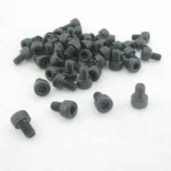10 x M4x6 Hex Socket Head Black Screws SHS-A
