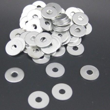 Lot Of 100PCS Zinc Plated Steel Flat Washers - 4x14x1mm FWR02