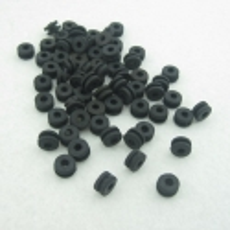 100x TATTOO GROMMETS - SOFT BLACK DOUGHNUT STYLE GRT01
