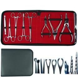 Stainless Steel Piercing Kit in Bag